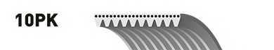 Поликлиновой ремень GATES 10PK1460 / 10PK1460ES - изображение