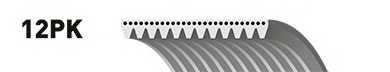 Поликлиновой ремень GATES 12PK717 - изображение