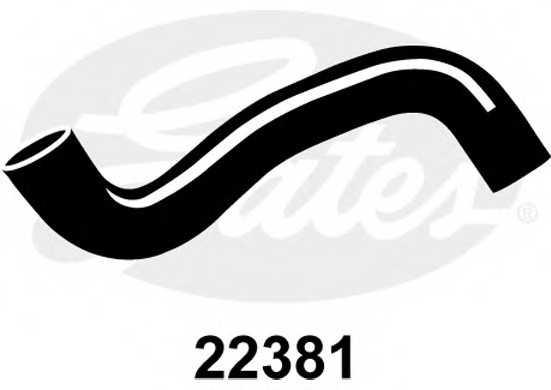 Шланг радиатора GATES 22381 - изображение