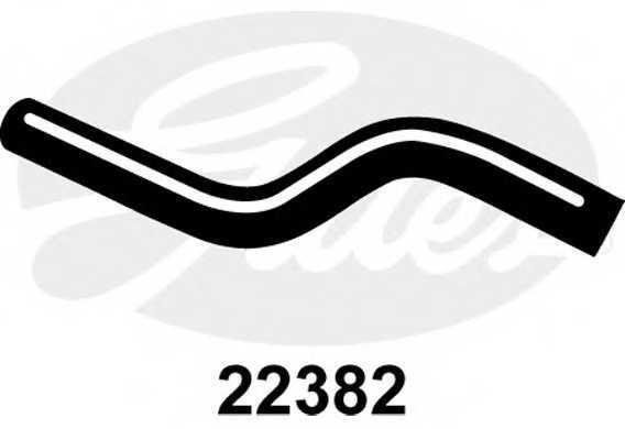 Шланг радиатора GATES 22382 - изображение