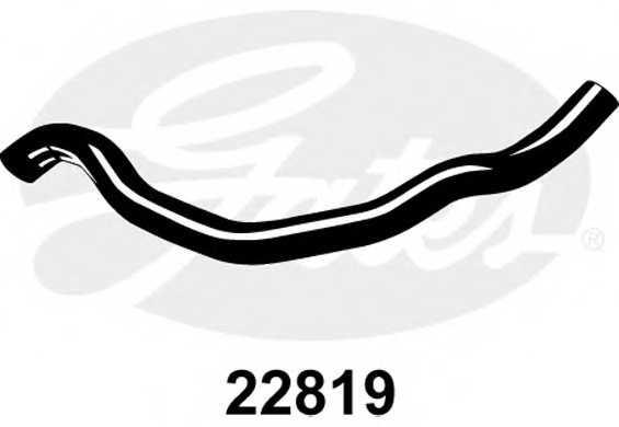 Шланг радиатора GATES 22819 - изображение
