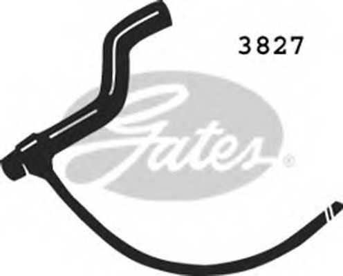 Шланг радиатора GATES 3827 - изображение