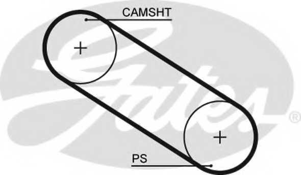 Ремень ГРМ GATES 5026 - изображение