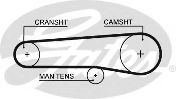 Ремень ГРМ GATES 5116 - изображение