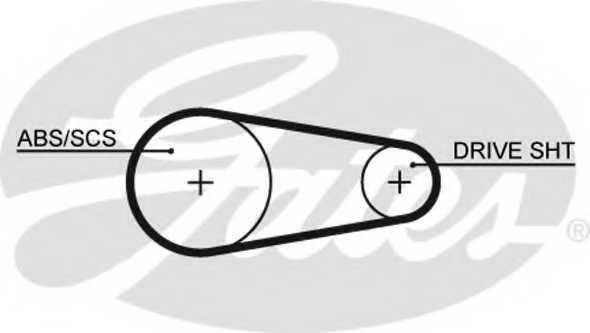 Ремень ГРМ GATES 5204XS - изображение