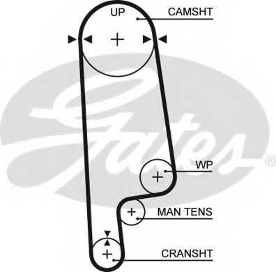 Ремень ГРМ GATES 5236XS - изображение