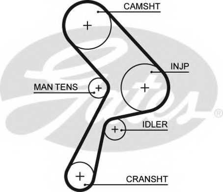 Ремень ГРМ GATES 5322 - изображение
