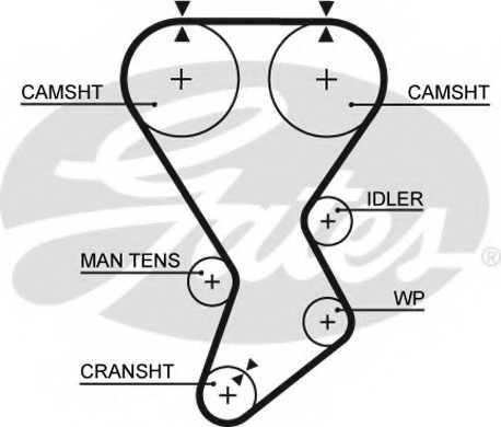 Ремень ГРМ GATES 5351XS - изображение