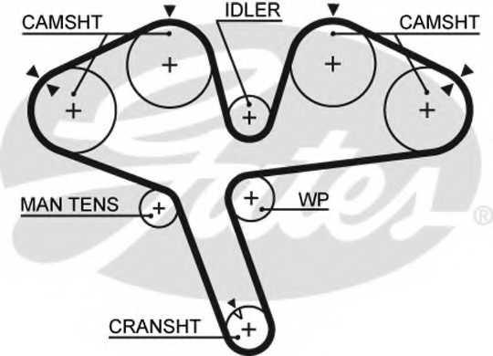 Ремень ГРМ GATES 5376XS - изображение