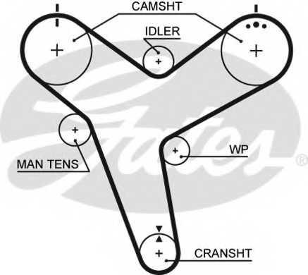 Ремень ГРМ GATES 5380XS - изображение