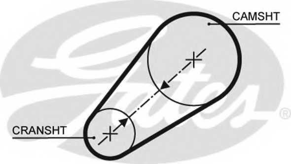 Ремень ГРМ GATES 5498XS - изображение