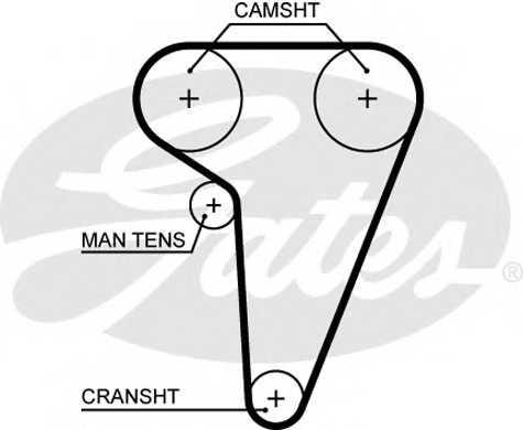 Ремень ГРМ GATES 5549XS - изображение