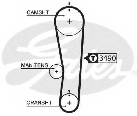 Ремень ГРМ GATES 5637XS - изображение