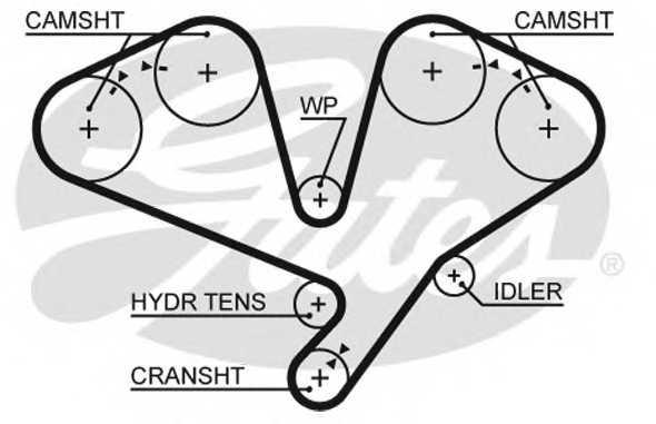 Ремень ГРМ GATES 5659XS - изображение