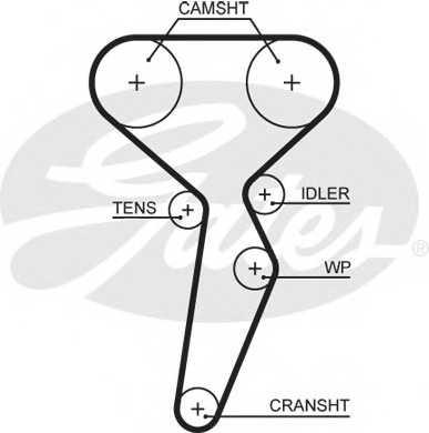 Ремень ГРМ GATES 5671XS - изображение