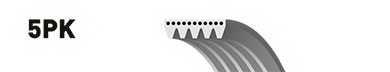 Поликлиновой ремень GATES 5PK1395 / 5PK1398 - изображение