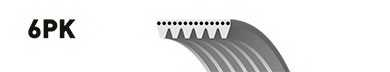 Поликлиновой ремень GATES 6PK2025 / 6PK2030ES - изображение