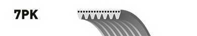 Поликлиновой ремень GATES 7PK2164 / 7PK2163 - изображение