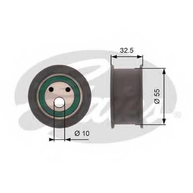 Натяжной ролик ременя ГРМ GATES T42041A - изображение