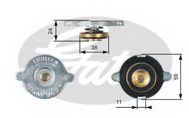 Крышка радиатора GATES RC107 - изображение