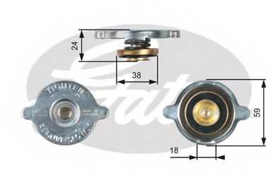 Крышка радиатора GATES RC113 - изображение