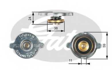 Крышка радиатора GATES RC116 - изображение