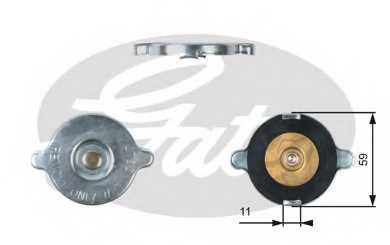 Крышка радиатора GATES RC117 - изображение