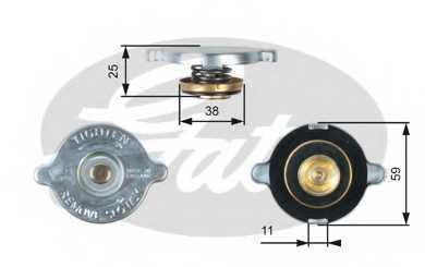 Крышка радиатора GATES RC122 - изображение