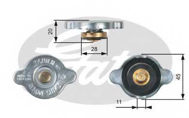Крышка радиатора GATES RC124 - изображение