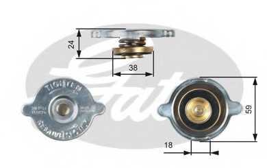 Крышка радиатора GATES RC125 - изображение