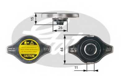 Крышка радиатора GATES RC127 - изображение