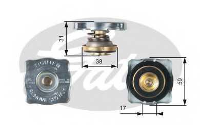 Крышка радиатора GATES RC130 - изображение