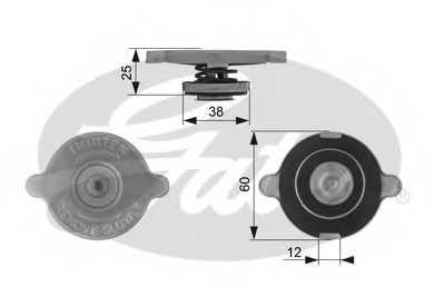 Крышка радиатора GATES RC132 - изображение