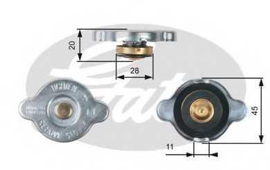 Крышка радиатора GATES RC133 - изображение