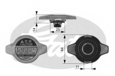 Крышка радиатора GATES RC134 - изображение