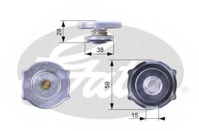 Крышка радиатора GATES RC135 - изображение