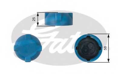 Крышка резервуара охлаждающей жидкости GATES RC203 - изображение