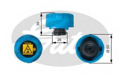 Крышка резервуара охлаждающей жидкости GATES RC216 - изображение
