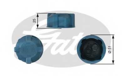 Крышка резервуара охлаждающей жидкости GATES RC220 - изображение