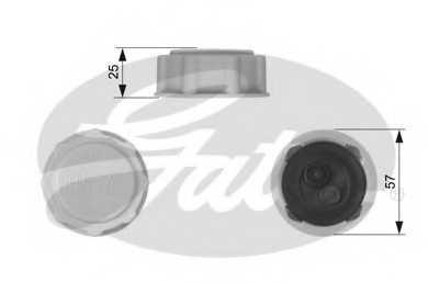 Крышка резервуара охлаждающей жидкости GATES RC227 - изображение