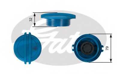 Крышка резервуара охлаждающей жидкости GATES RC228 - изображение