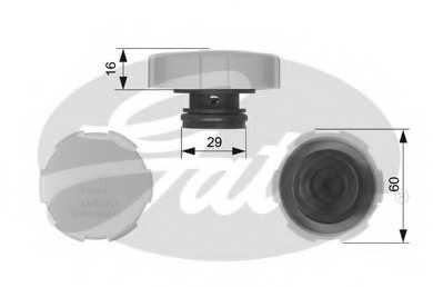 Крышка резервуара охлаждающей жидкости GATES RC231 - изображение