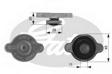 Крышка резервуара охлаждающей жидкости GATES RC232 - изображение