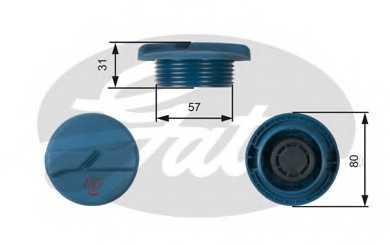 Крышка резервуара охлаждающей жидкости GATES RC234 - изображение