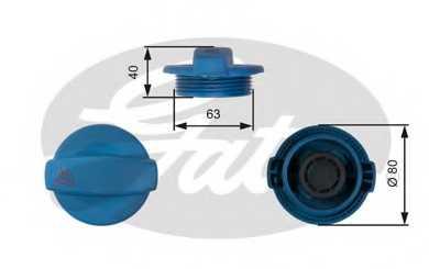 Крышка резервуара охлаждающей жидкости GATES RC237 - изображение
