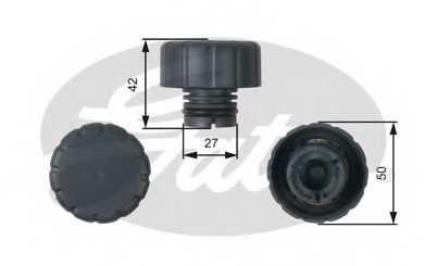 Крышка резервуара охлаждающей жидкости GATES RC244 - изображение