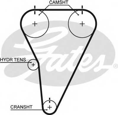 Ремень ГРМ GATES T215 - изображение