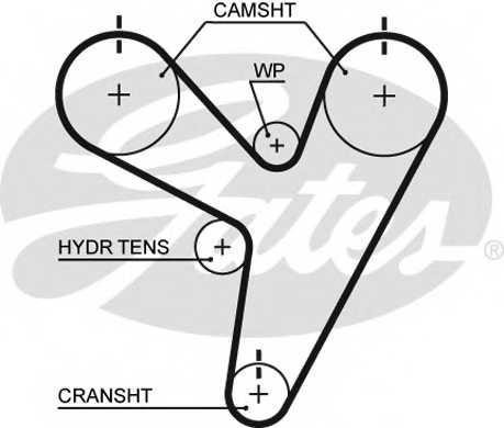 Ремень ГРМ GATES T219 - изображение