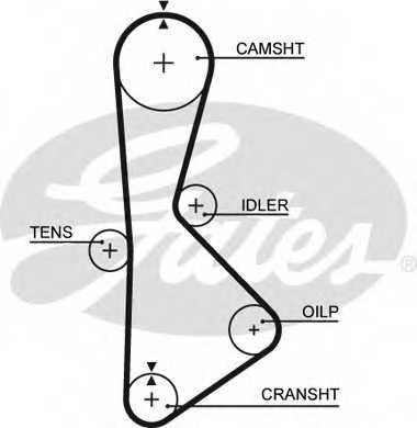 Ремень ГРМ GATES T233 - изображение