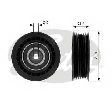 Натяжной ролик поликлиновогоременя GATES T36000 - изображение